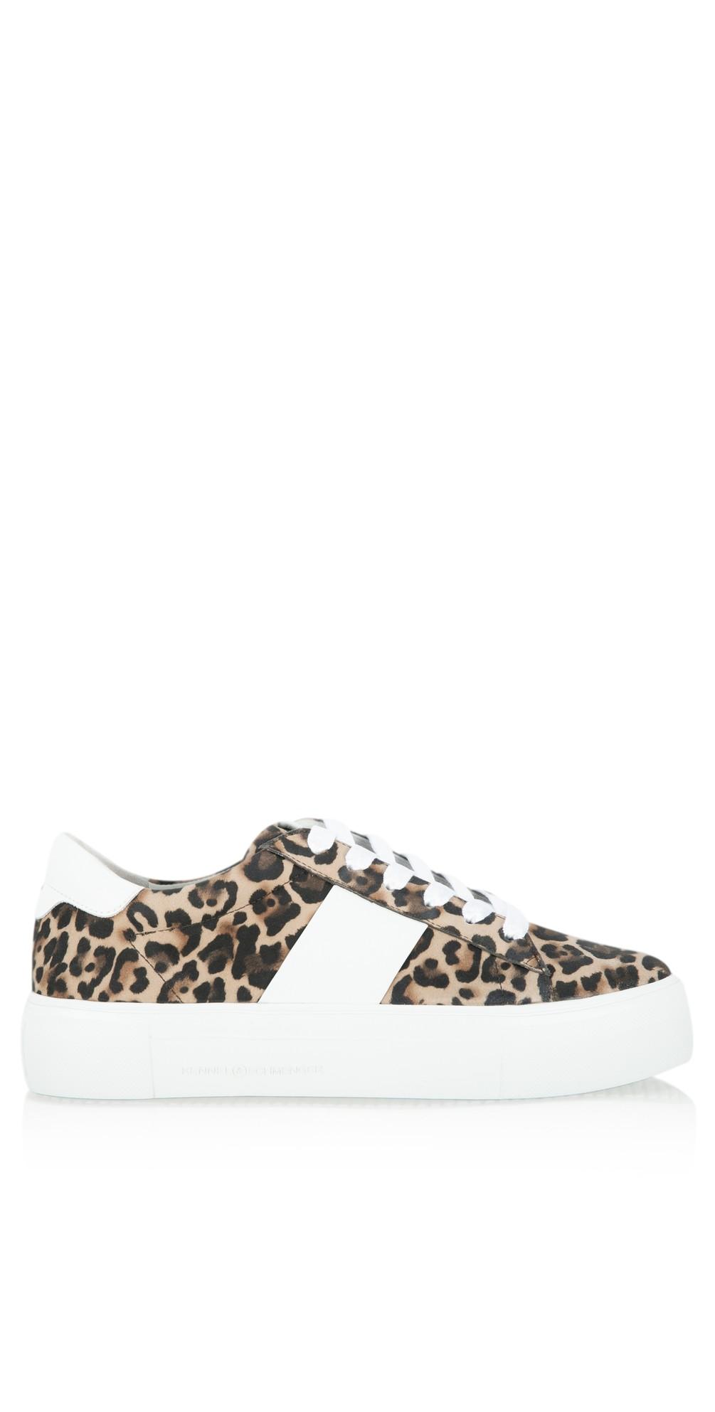 Big Leopard Print Trainer Shoe main image