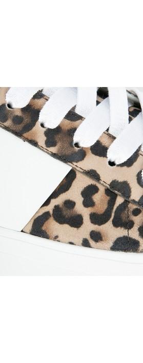 Kennel Und Schmenger Big Leopard Print Trainer Shoe Camel/Bianco