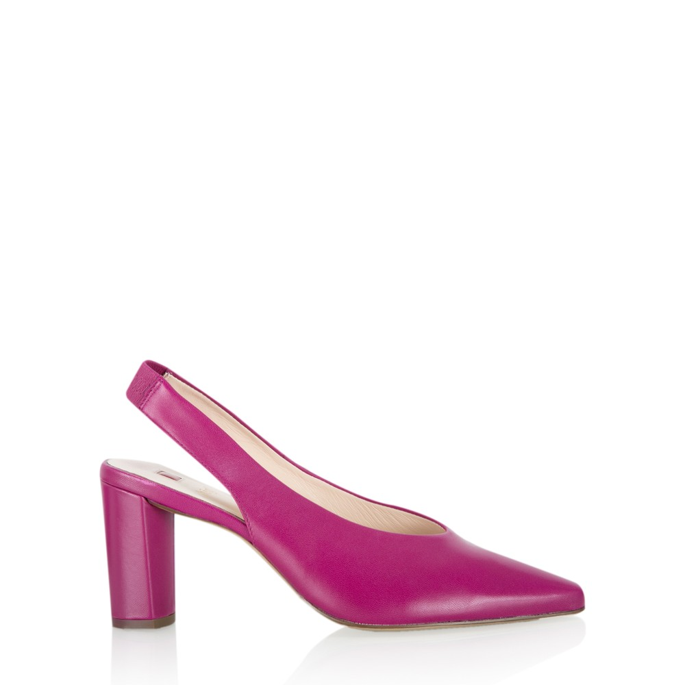 Hogl Edith Block High Heel Shoe  Fuchsia**