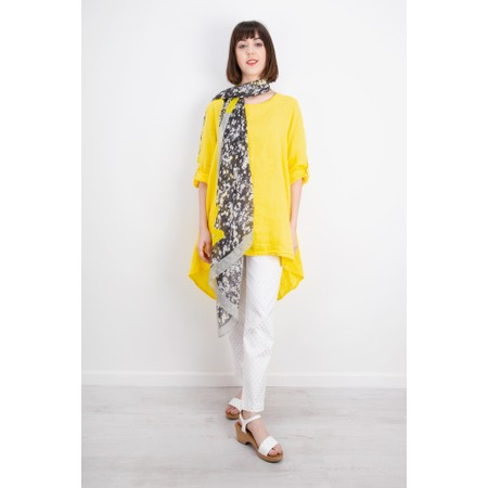 Fenella  Orla EasyFit Linen Button Back Top - Yellow