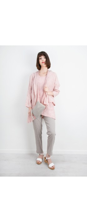 Grizas Petra Crinkle Tunic Top Pink