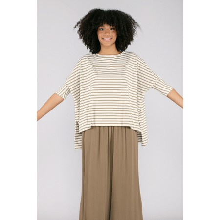 Mama B Sidro Riga Stripe Top - Green