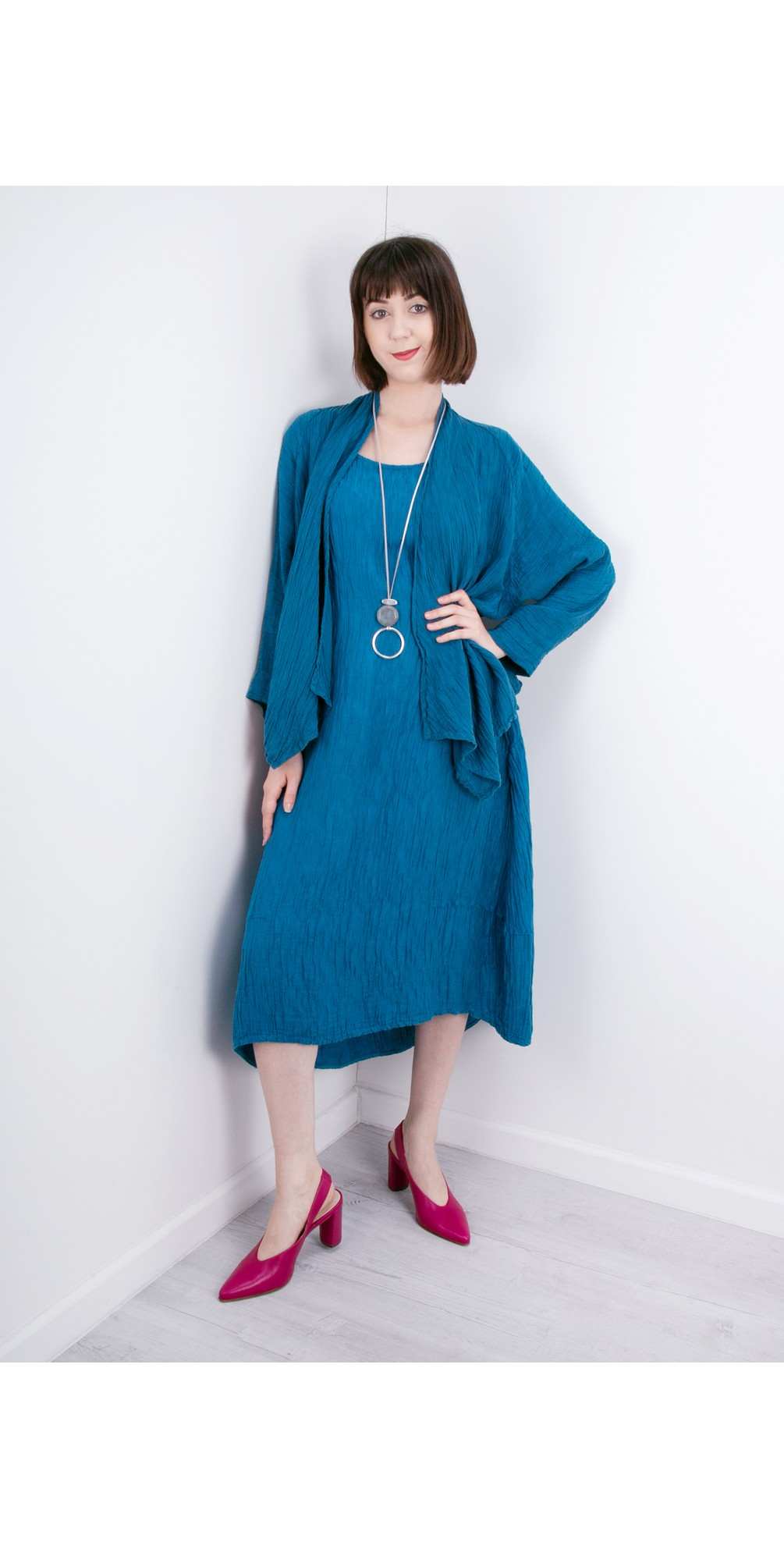 Luiza Crinkle Linen Blend Dress main image