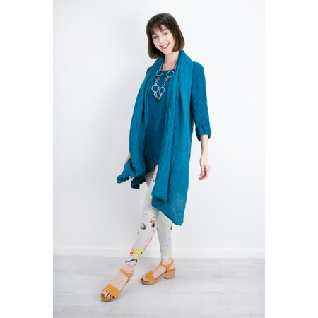 Grizas Katya Crinkle Linen Scarf - Turquoise