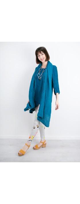 Grizas Ania Printed Jersey Leggings Light Grey/Brights Multi