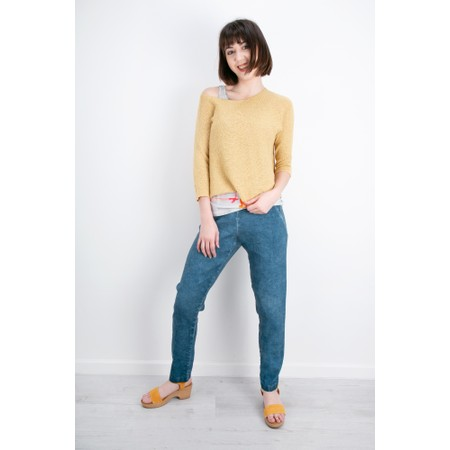 Grizas Aura Easyfit Hemp Knit Jumper - Yellow