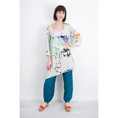 Grizas Roza Crinkle Easyfit Linen Trouser - Turquoise