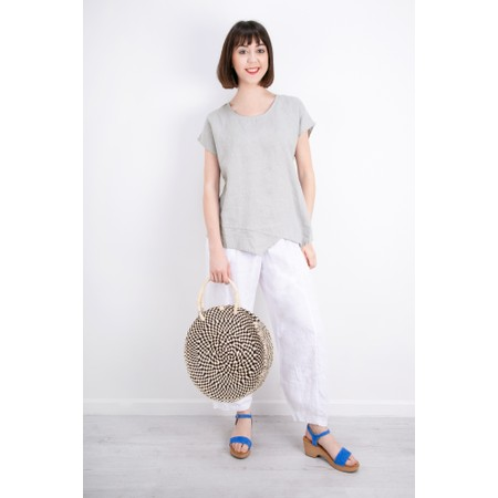 Thing Linen Asymmetric Hem Top - Metallic