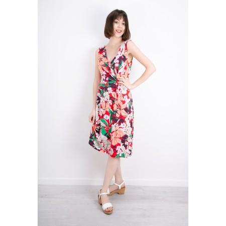 Expresso Elona Bold Floral Dress - Red