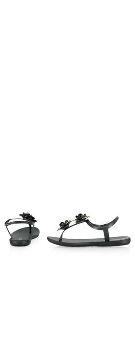 Ipanema Floral Sandal Special  Black