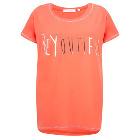Sundae Tee Izzie Slogan Tee - Orange