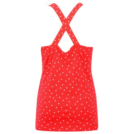 Sandwich Clothing Cross Back Dotted Vest Top - Red