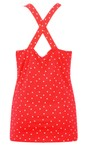 Sandwich Clothing Pop Red  Cross Back Dotted Vest Top