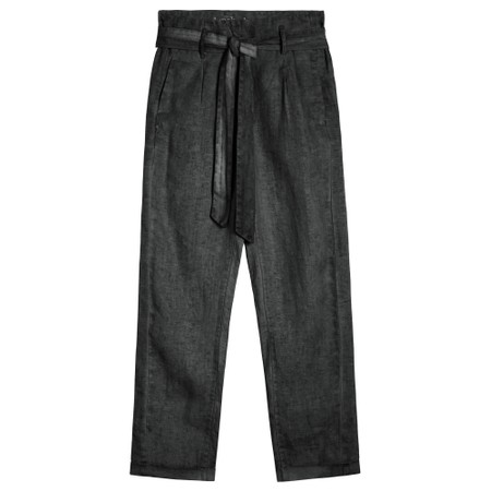 Sandwich Clothing Cropped Linen Trousers - Black
