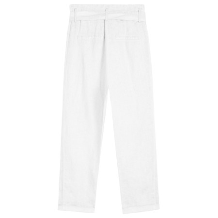 Sandwich Clothing Cropped Linen Trousers - White