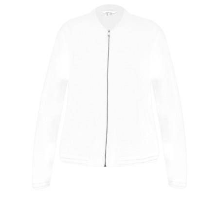 Sandwich Clothing Cotton Slub Jersey Bomber Jacket - White