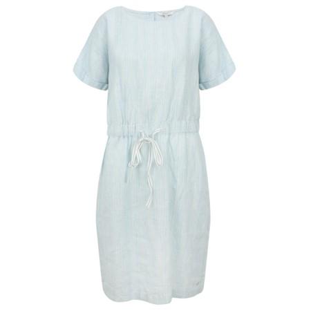 Sandwich Clothing Fine Stripe Linen Dress - Blue