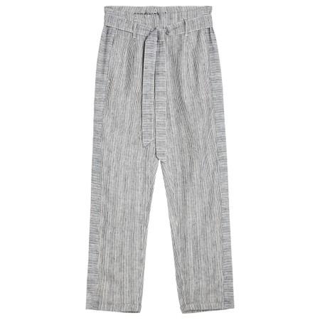 Sandwich Clothing Fine Stripe Print Linen Trousers - Black