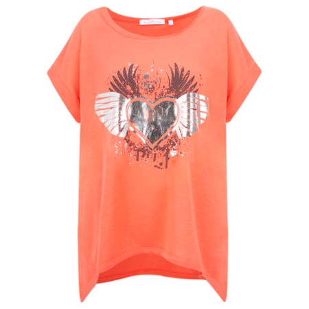 Sundae Tee Becca Foil Printed Tee - Orange