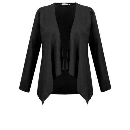 Masai Clothing Itally Basic Waterfall Cardigan - Black