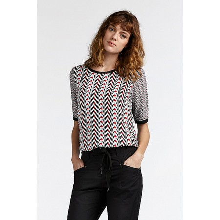 Sandwich Clothing Geometric Print Blouse - Black