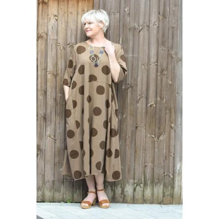 Mama B Tropico Spot Dress - Brown