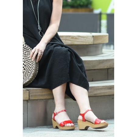 Gemini Label  Aneka Icon Patent Wedge Sandal  - Red