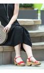 Gemini Label  Lips Red Aneka Icon Patent Wedge Sandal