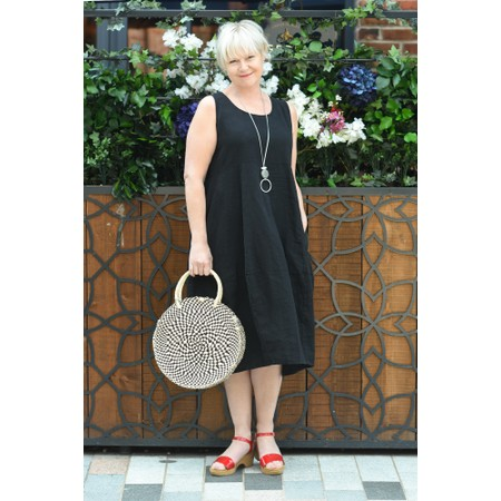 Thing Linen Sleeveless Dress - Black