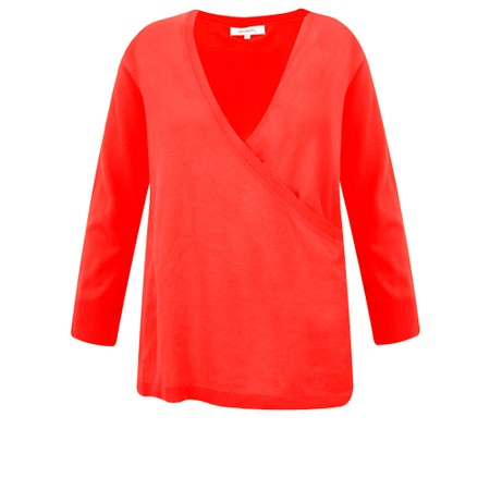 Sandwich Clothing Organic Cotton Wrap Knit Jumper - Red