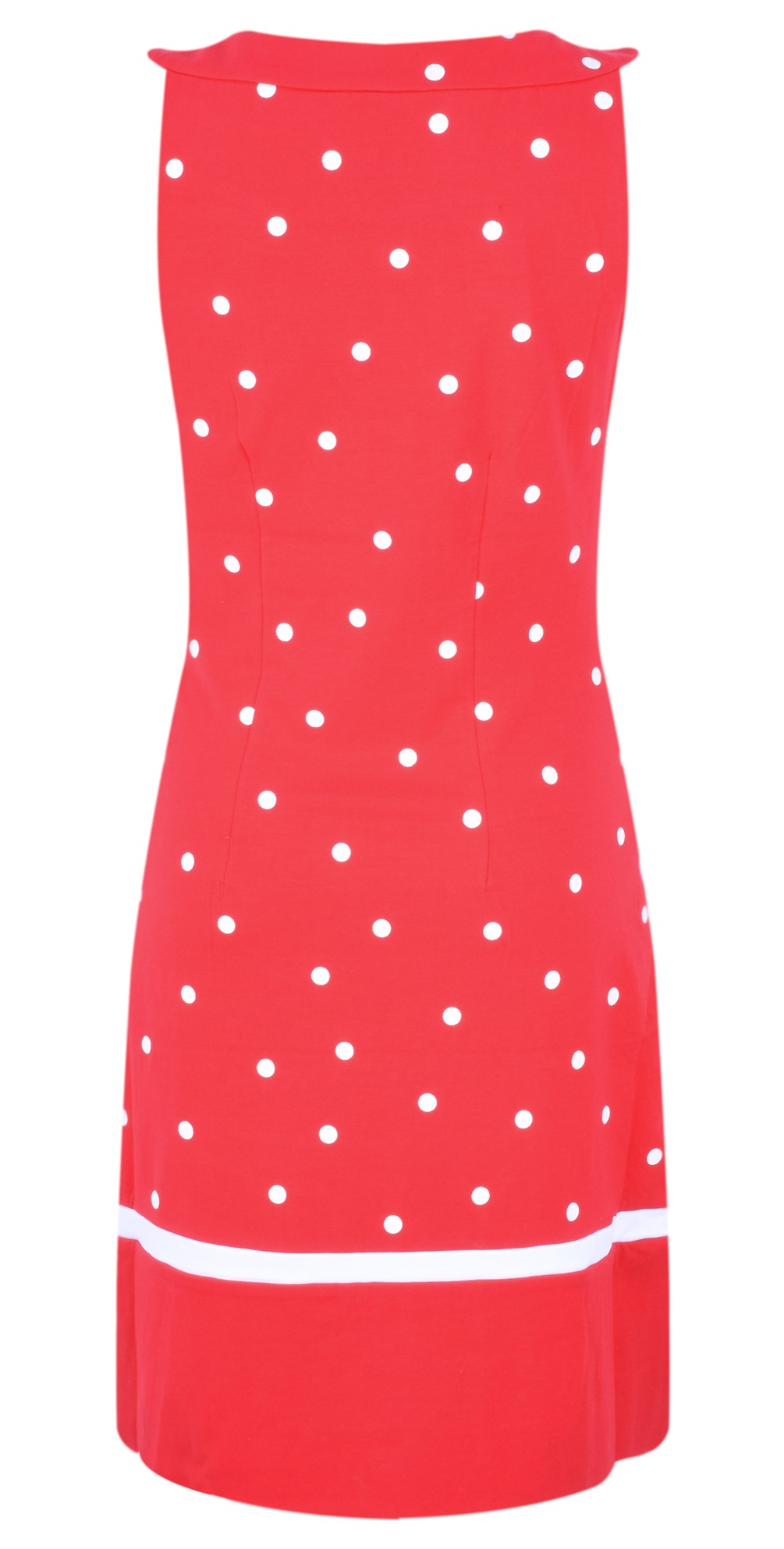 Dot Print Fitted Dress main image