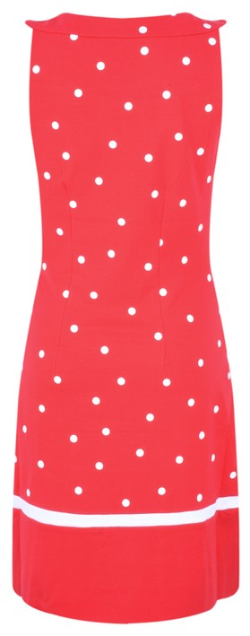 Sandwich Clothing Dot Print Fitted Dress Pop Red