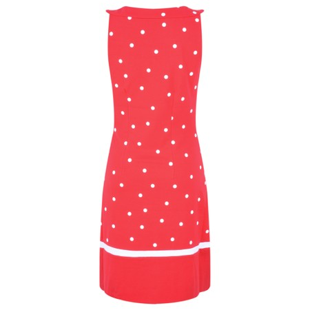 Sandwich Clothing Dot Print Fitted Dress - Red