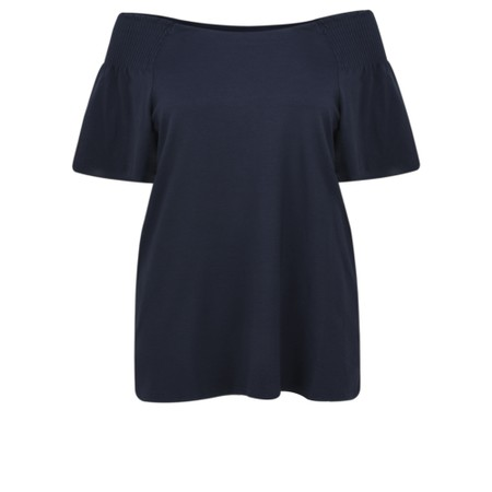 Masai Clothing Denisa Bardot Top - Blue