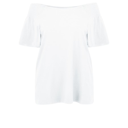 Masai Clothing Denisa Bardot Top - White