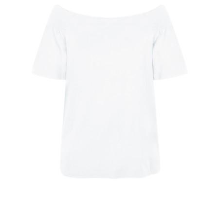 Masai Clothing Denisa Bardot Top - White