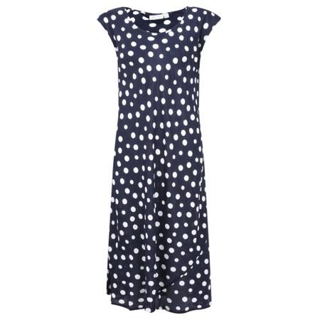 Masai Clothing Unni Polka Dot Dress - Blue