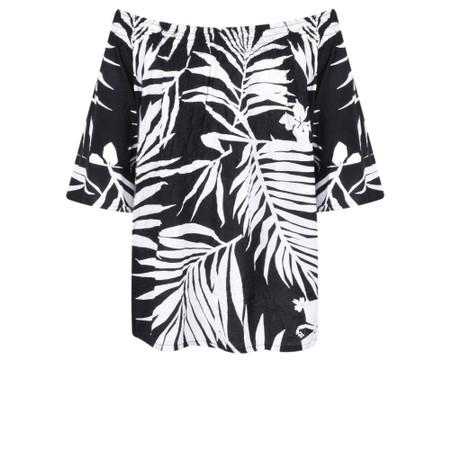 Masai Clothing Palm Print Debris Top - Black