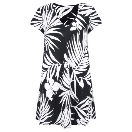Masai Clothing Palm Print Van Tunic - Black