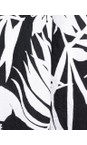 Masai Clothing Black Org Palm Print Van Tunic