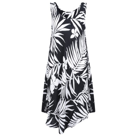 Masai Clothing Palm Print Oculla Dress - Black