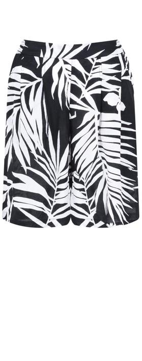 Masai Clothing Palm Print Para Shorts Black Org