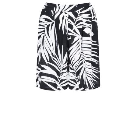 Masai Clothing Palm Print Para Shorts - Black