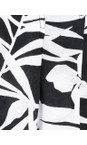 Masai Clothing Black Org Palm Print Para Shorts