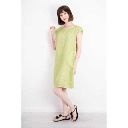 TOC  Enza Washed Linen Dress - Green