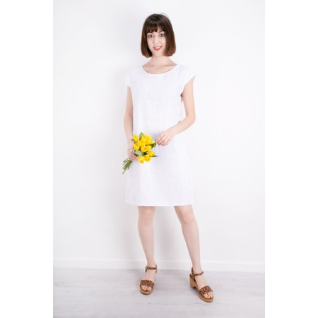 TOC  Enza Washed Linen Dress - White