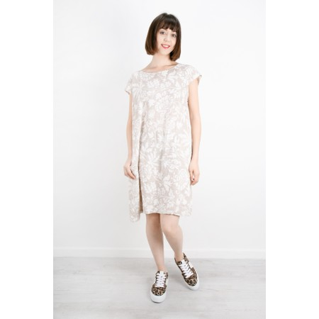 TOC  Dahlia Printed Linen Dress - Grey