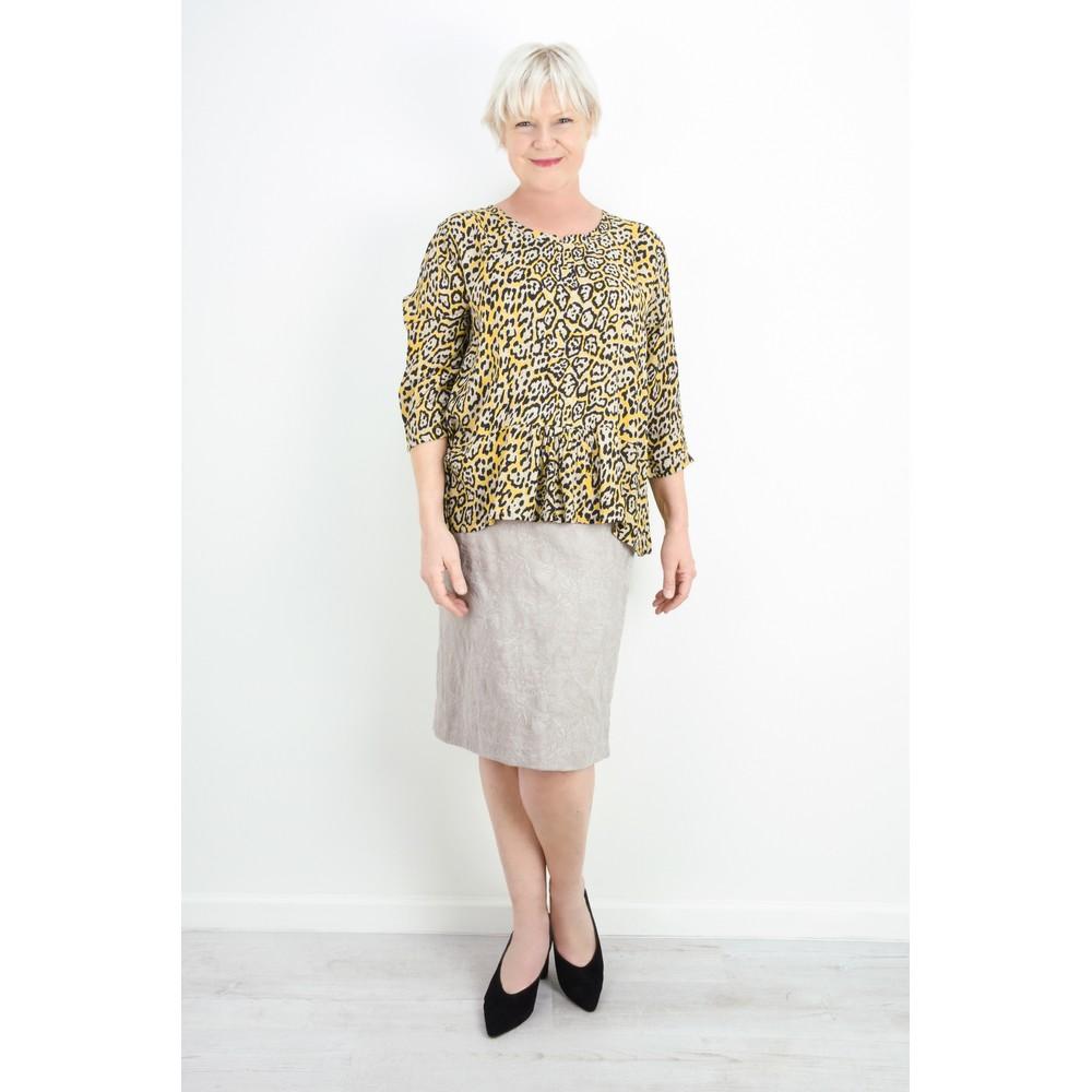 Robell Christy Beige Jacquard Skirt Beige