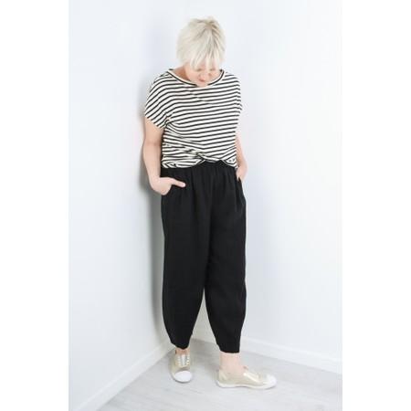Mama B Nilo Riga Stripe Top - Black