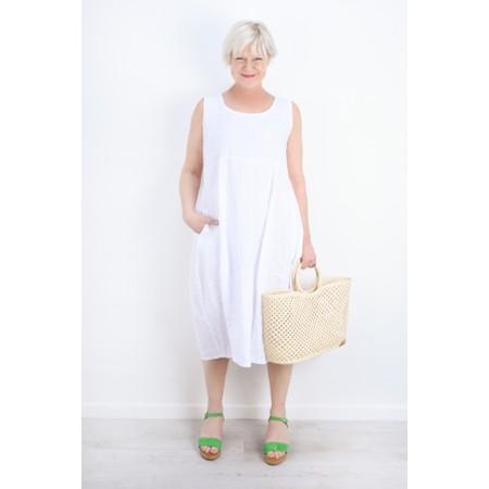 Thing Linen Sleeveless Dress - White